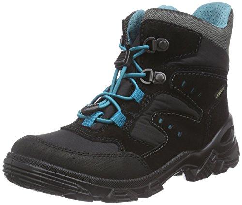 Ecco - Ecco Snowboarder, Scarpe Da Neve per bambini e ragazzi, Nero (Black (black/black/pagoda Blue)), 29