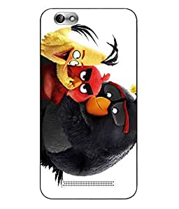 Snazzy Angry Bird Printed Colorful Hard Back Cover For Lenovo Vibe C A2020