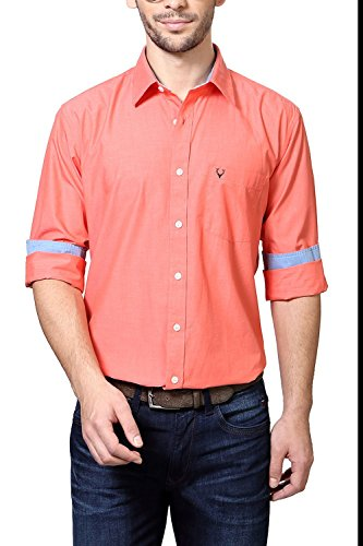 Allen-Solly-Peach-Shirt