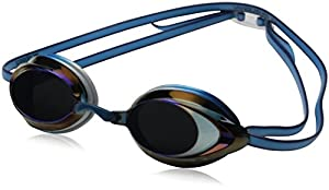 Speedo Vanquisher 2.0 Mirrored Swim Goggle, Pacific Blue