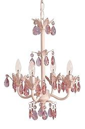 Sleeping Partners 4 Bulb Mini Chandelier - Pink Sapphire