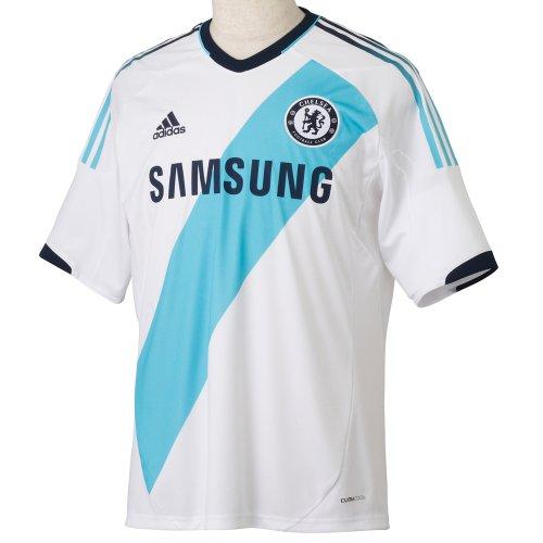 CHELSEA 2012/2013 Men's Away Shirt, White/Blue, M