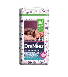Huggies DryNites Pyjama Pants for Girls 4 to 7 Years - 3 Convenience Packs of 10 Pants