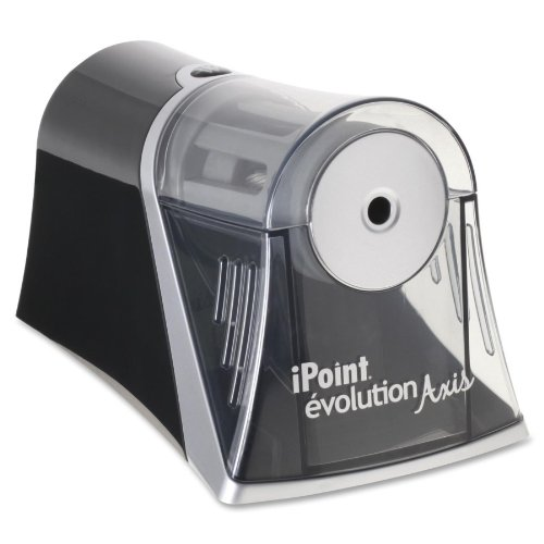 Acme United Ipoint Evolution Axis Single Hole Sharpener , Black, Silver