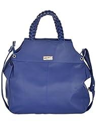 Bhawna Enterprises Leather Adjustable Strap Women's Handbag (BE_DABLU30, Blue)