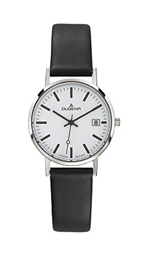 Dugena  Dugena Basic - Reloj de cuarzo para mujer, con correa de cuero, color negro