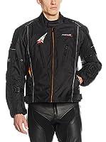 Roleff Racewear Chaqueta de Moto Motorradjacke Como Ro 15051 (Negro / Naranja)