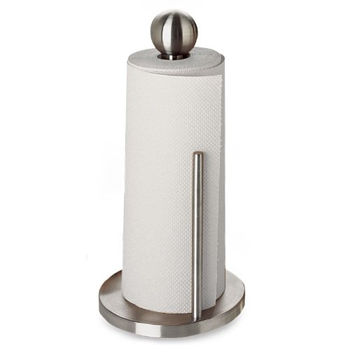 Amco 8253 Paper Towel Holder, Brushed Stainless Steel