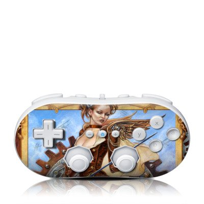 Steam Jenny Design Skin Decal Sticker For The Wii Classic Controller front-551496