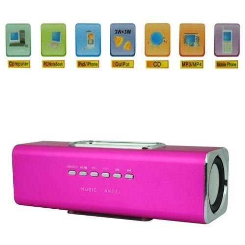 Julong Music Angel Mini Portable Speaker Player Sd/Tf Card For Pc Ipod Mp3 Player