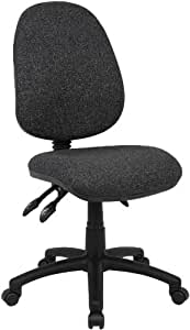Fabric Operator seating - 3 Lever Operator Chair without Arms - Charcoal (V200-00-C) H995xW1125xD490