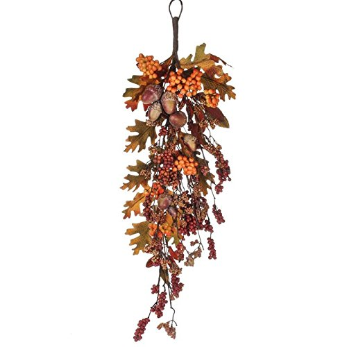 Factory Direct Craft® realistic Fall Artificial Acorn and Berry Teardrop for Home Decor, and Displaying
