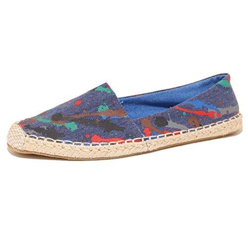 7733P mocassino espadrillas blu GIO CELLINI scarpe donna loafer women [40]