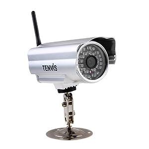 Tenvis IP602W ESTERNI/ESTERNO Wireless WIFI Infrarossi Visione Notturna IP Camera OUTDOOR WATERPROOF Telecamera Security SORVEGLIANZA Webcam VIDEOSORVEGLIANZA RETE Email Receive con 15-20 metri di visione notturna e lente 6 mm(36° Gradi Visuale) Visione remota Supporto iPhone / Android Rilevazione di Movimento Motion via E-mail o FTP 1 Anni di Garanzia- Silver