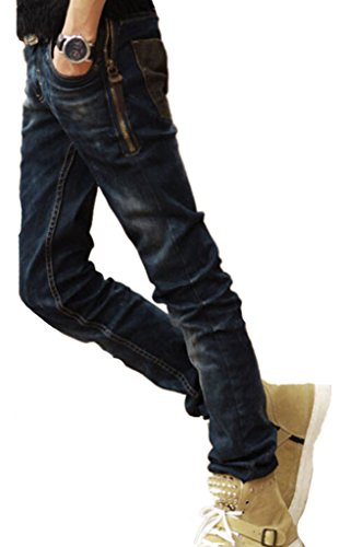 XTX Mens Classic Style Black Blue Fitted Jeans Denim Trousers Casual Pants 31