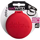 Dotz Cord Wrap for Cord and Cable Management, Red (CWOS30M-CR)