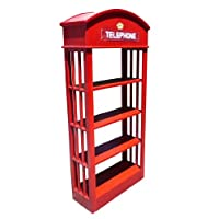 D-ART London Telephone Bookcase in Mahogany Wood