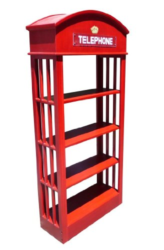 D-ART COLLECTION Mahogany London Telephone Bookcase