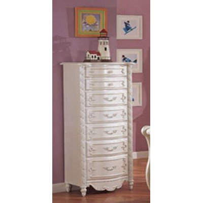 ACME 01004 Pearl Lingerie Chest, Pearl White Finish
