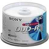 Sony - DVD-R (recordable), 16x, 50er Spindel mit 120 Minuten je DVD