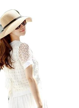 Autek La nouvelle plage de la mer chapeau chapeau de soleil Dayan Mao Mme pliable Resort (394) (beige)