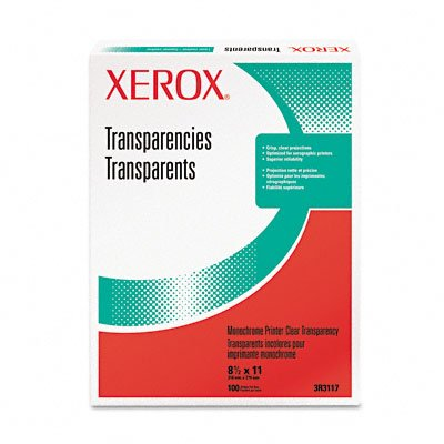 XER3R3117 Laser Transparency Film, Clear, 100 Sheets/Box - Buy XER3R3117 Laser Transparency Film, Clear, 100 Sheets/Box - Purchase XER3R3117 Laser Transparency Film, Clear, 100 Sheets/Box (Xerox, Office Products, Categories, Office & School Supplies, Presentation Supplies, Transparency Film)