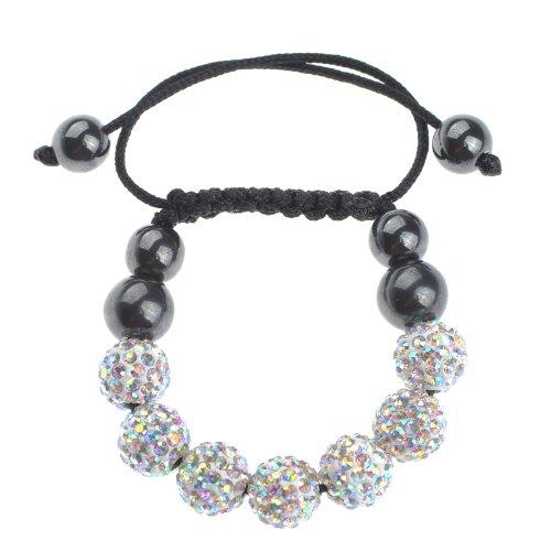Children's 3D Color AB Crystal Disco Ball Shamballa Bracelet