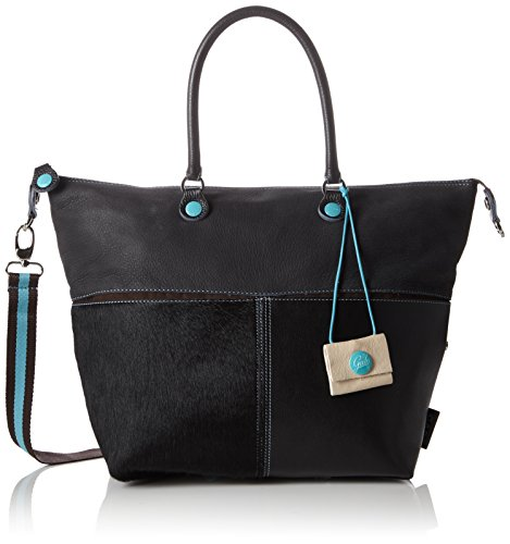 GabsG3 - Borsa con Maniglia Donna , Nero (Schwarz (nero 2000)), 43x37x1 cm (B x H x T)