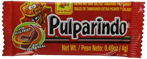 Pulparindo Extra Hot and Salted Tamarind Pulp Candy Mexican Candy