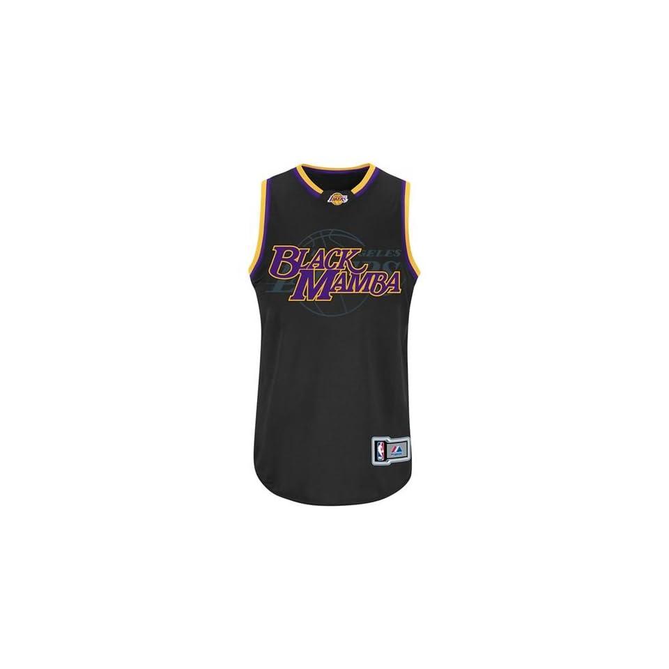 68e5aefeb6e Los Angeles Lakers Kobe Bryant  24 Black Mamba Notorious Jersey (Black)