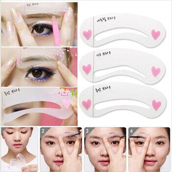 3pcs Lady Eyebrow Grooming Beauty Tools Plastic