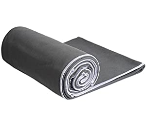 #1 Best Hot Yoga Towel, Super Absorbent, 100% Microfiber, Anti-Slip, SUEDE, Best Bikram / HOT Yoga Towel, Best Camping / Outdoor Towel, Many Colors Available, Lifetime Guarantee!