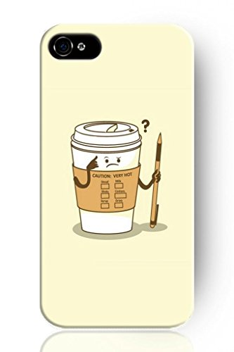 Sprawl Simple Cartoon Series Phone Case Hard Cover For Apple Iphone 6 (5.5) -- Doubt Of Cup