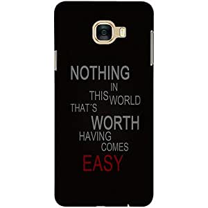 Casotec Life Quotes Design 3D Printed Hard Back Case Cover for Samsung Galaxy C7