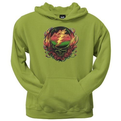 Old Glory Mens Grateful Dead - Scarlet SYF Pullover Hoodie - Large Light Green
