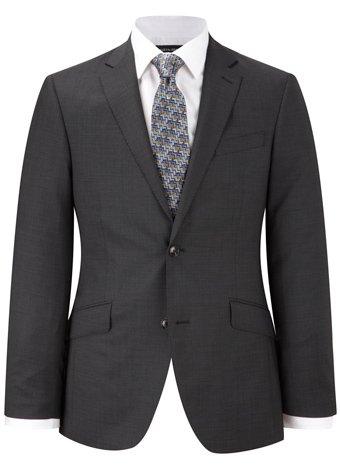 Austin Reed Contemporary Fit Charcoal Pindot Jacket LONG MENS 44