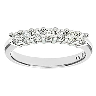 Ariel 9ct White Gold Diamond Claw Set Eternity Ring