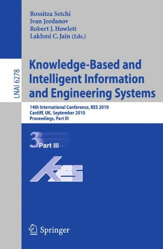 Knowledge-Based and Intelligent Information and Engineering Systems: 14th International Conference, KES 2010, Cardiff, UK, september 8-10, 2010, Proceedings, Part III