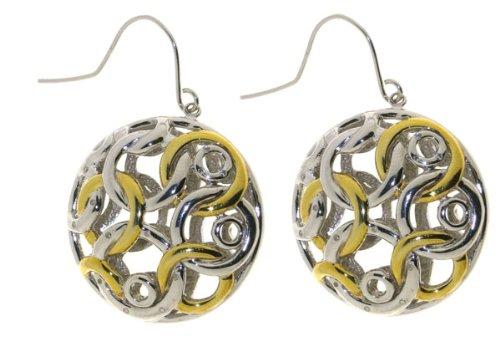 Quality Anti-Tarnish 925 Sterling Silver Diamond Drop Earrings Brilliant Cut 0.08 Carat G-VS - 25mm*25mm, 18 Grams