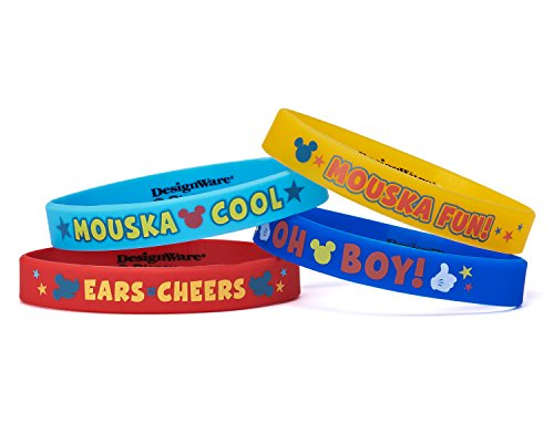 American Greetings Mickey Mouse Clubhouse Rubber Bracelets, 4 Count, Party Supplies