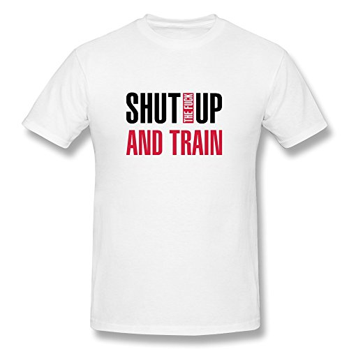 Shut Fuck Train Printing 100% Cotton Tshirts For Men front-78910