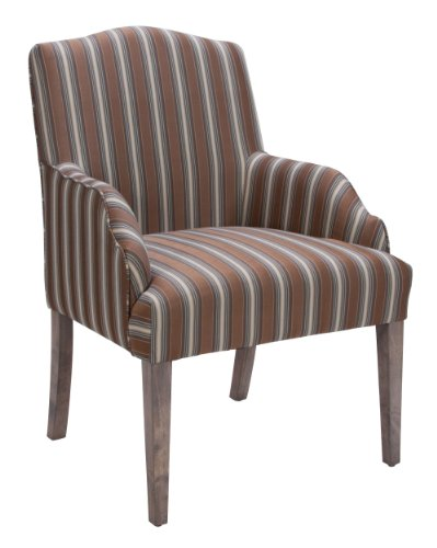 Homelegance 2516A Accent/Arm Chair, Stripe Fabric, Set Of 2 front-811276