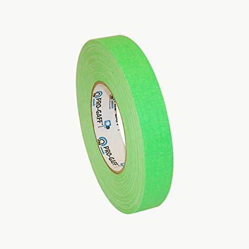 Pro Tapes Pro-Gaff-Neon Premium Fluorescent Gaffers Tape: 1 in. x 50 yds. (Fluorescent Green)