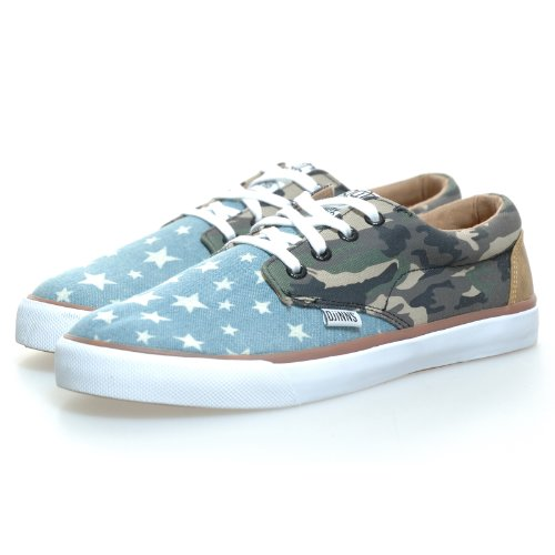 Djinns - NICE STAR CAMO - CRAZY PATTERN - Low Top Sneaker - Blau / Grün-37