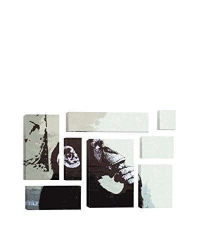 Banksy The Thinker Monkey 8-Piece Giclée On Canvas