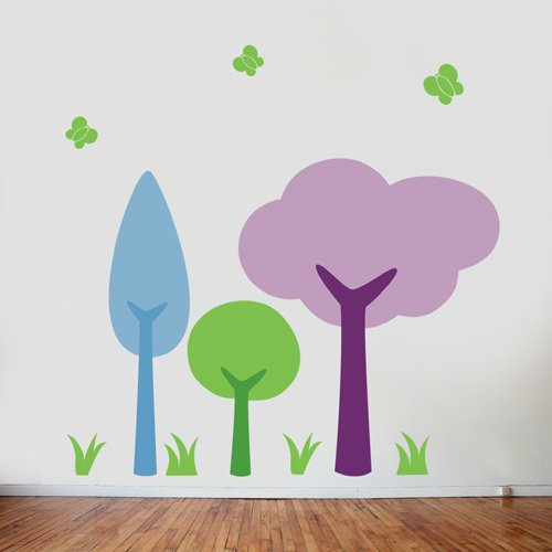 Cute Colorful Tree Wall Decals