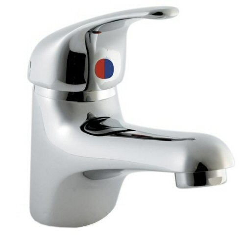 Bathroom Single Lever Chrome Mono Basin Sink Mixer Tap Including Pop up Waste - 5 Year Guarantee
