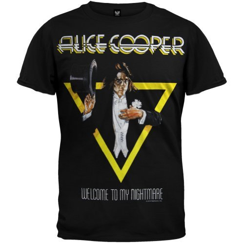 Alice Cooper - Uomo Welcome To My Nightmare T-shirt - Small Nero