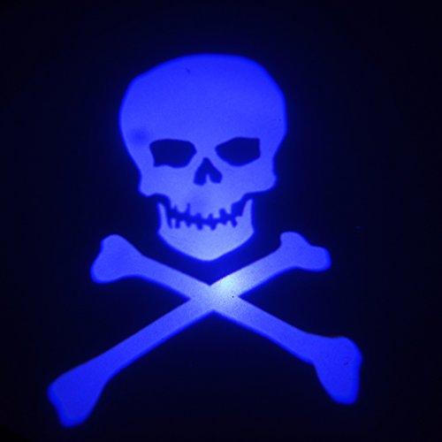 2X Cold Blue Skull Ghost Skeleton Car Door Step Led Welcome Logo Shadow Light Led Courtesy Projection Laser Projector Light Lighting Lamp