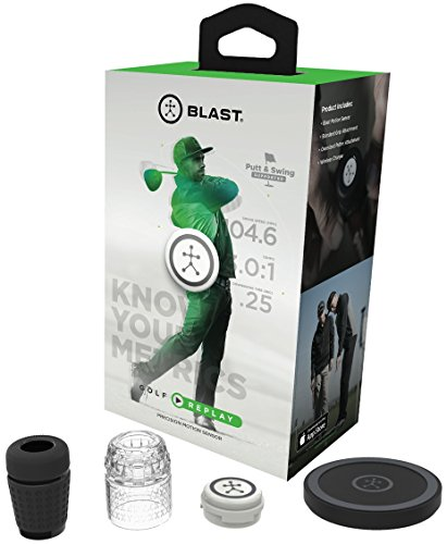Blast Motion Golf Replay/3D Motion Capture Trainer with Smart Video Swing Analysis and Performance Data Overlay